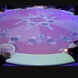 圆形互动桌